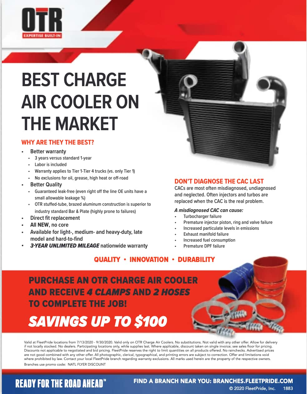 OTR change air cooler